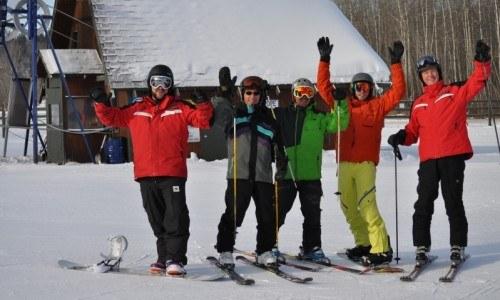 Lesson, ski, snowboard, ski hill, winter fun