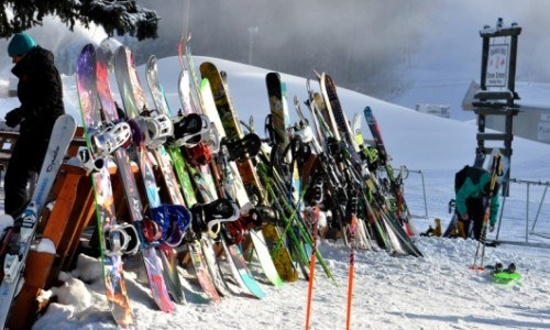 equipment rental, ski, snowboard, helmet, boots