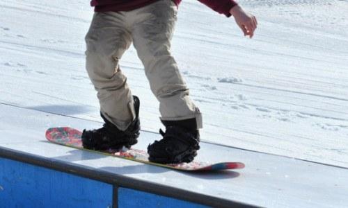 snowboard, park, lesson, terrain park, temp park, rails, jumps, boxes