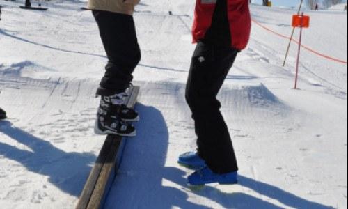 ski, park, lesson, terrain park, temp park, rails, jumps, boxes