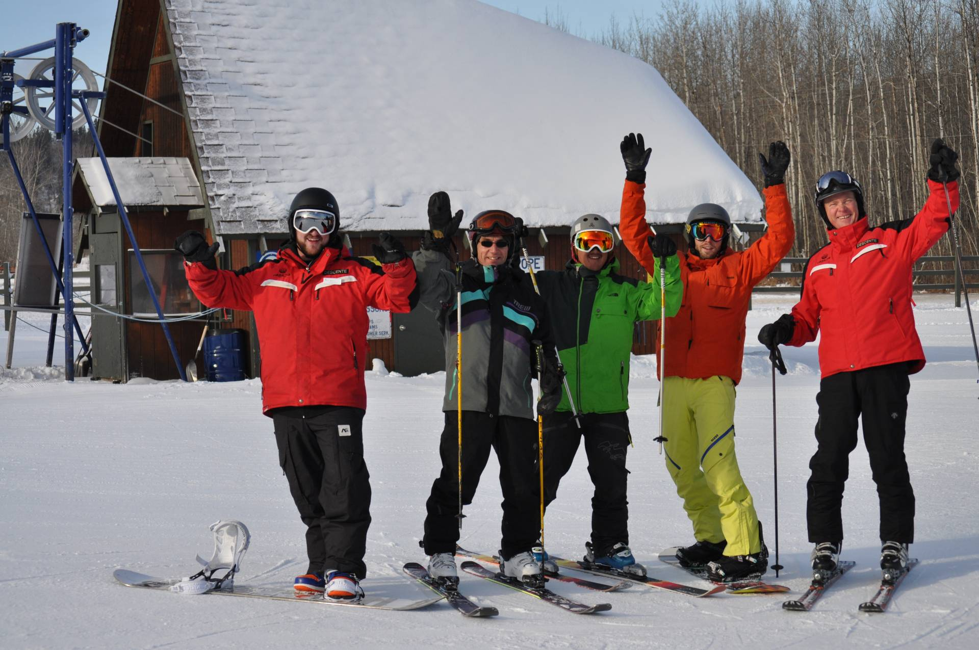 LESSON, GROUP LESSON, ski, snowboard, rabbit hill, edmonton, winter sport, saturday, sunday
