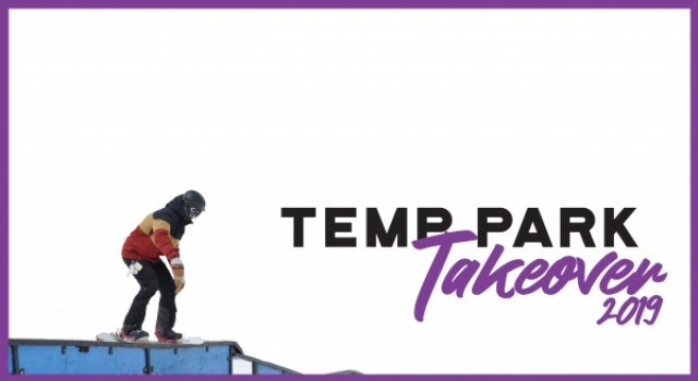 ski, snowboard, the source, terrain park, temp park, rails, jumps, boxes