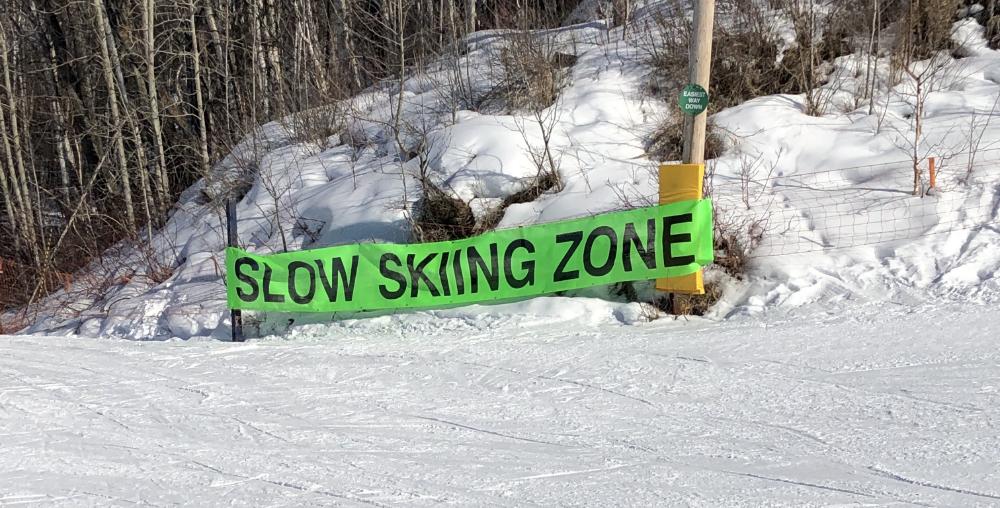 Slow skiing Zone